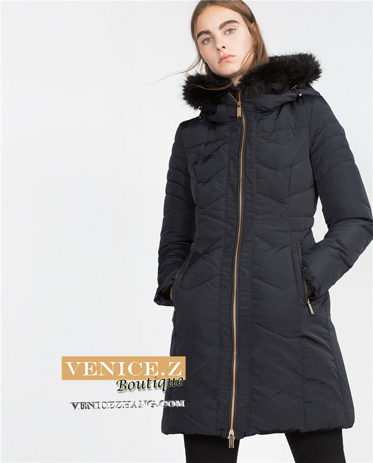 Bnwt Zara Hooded 70 Duck Down Jacket Coat Quilted Puffer