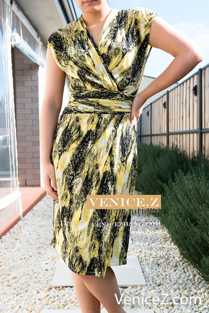 Bnwt Rrp 129 Leona By Leona Edmiston Faux Wrap Dress Black